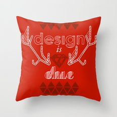 design is chic Throw Pillow