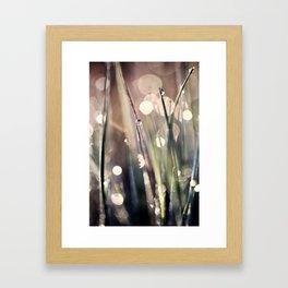Inspirational Morning Sun Meditation in Bokeh Framed Art Print