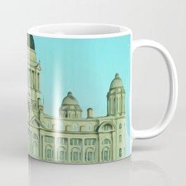 Port of Liverpool Building (Digital Art) Coffee Mug