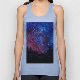 Forest Watercolors Unisex Tank Top