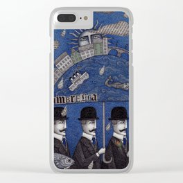 Four Men Waiting Clear iPhone Case