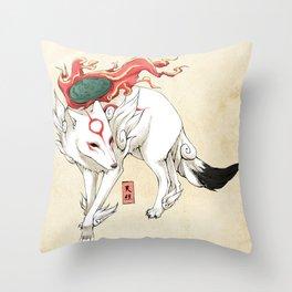 Okami Amaterasu Throw Pillow