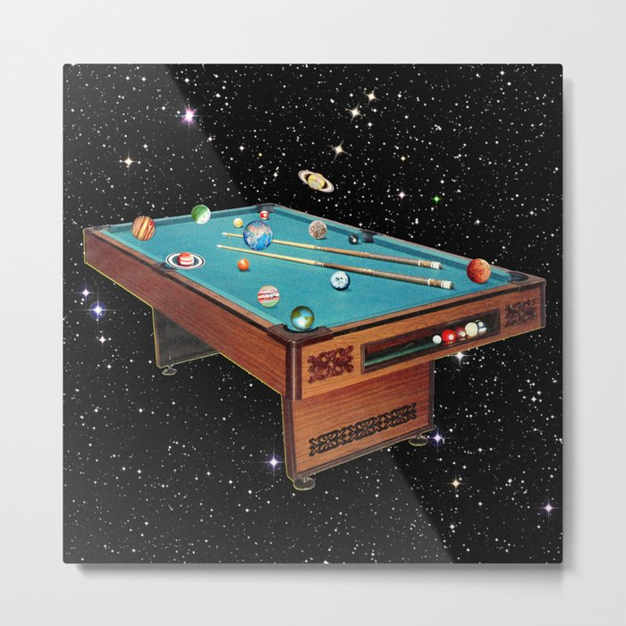Cosmic Pool Metal Print