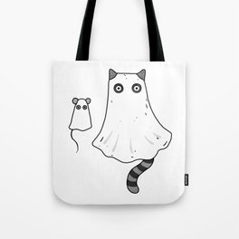 Cat Ghost & Mouse Ghost – Nightmare Tote Bag