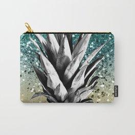 Pineapple Lemon Twist Glitter Glam #1 #tropical #fruit #decor #art #society6 Carry-All Pouch