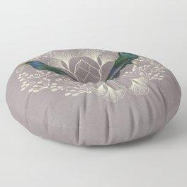 Endurance Crystal Grid in Mauve Floor Pillow