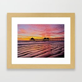 HB Sunsets Calendar Cover 2015 Framed Art Print