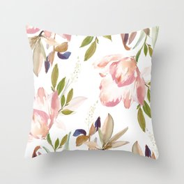 Darling Blooms 02 Throw Pillow