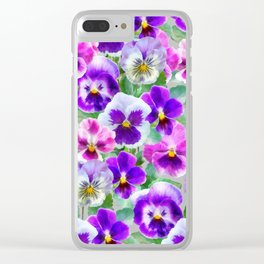 Bouquet of violets II Clear iPhone Case