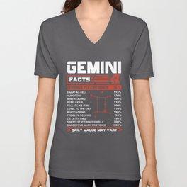 gemini facts servings per container grandma t-shirts Unisex V-Neck
