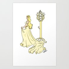 Lady of the Golden Wood Art Print