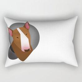 Brown Bull terrier Rectangular Pillow