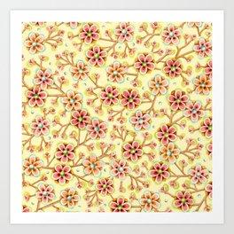 Candy Apple Blossom Yellow Art Print