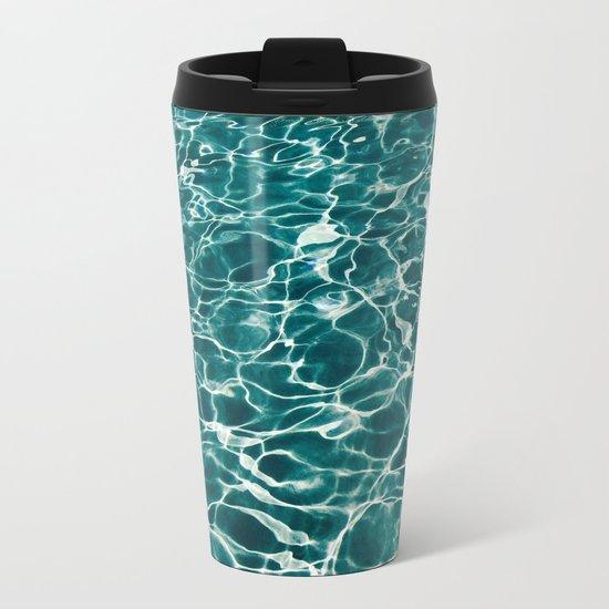 Blue Water Metal Travel Mug
