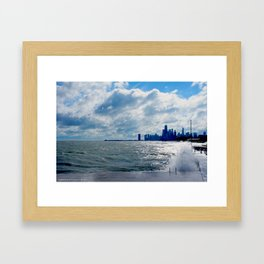 When Sandy Made Waves in Chicago #4 (Chicago Waves Collection) Framed Art Print