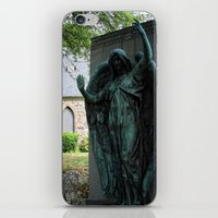 snatch iPhone & iPod Skins featuring Grave Snatcher by Cemetery Prints Inc.