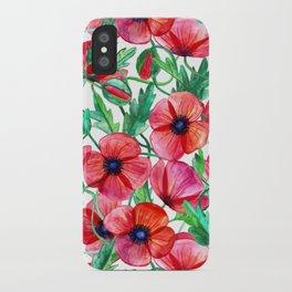 Plenty of Poppies - white iPhone Case