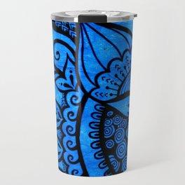 Tangle on blue Travel Mug