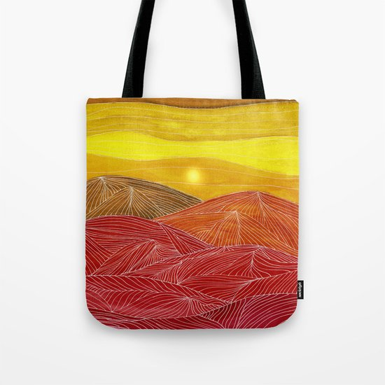 Lines in the mountains IX Tote Bag
