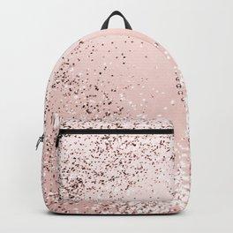 Sparkling ROSE GOLD Lady Glitter Heart #5 #decor #art #society6 Backpack