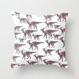 Parasaurlophuses Throw Pillow