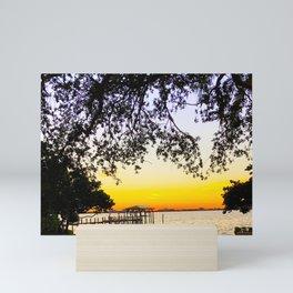 Summer Sunset Over the Bay Mini Art Print