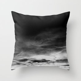 BLACK & WHITE TOUCHING #1 #abstract #decor #art #society6 Throw Pillow