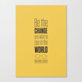 Lab No. 4 - Mahatma Gandhi Motivational Quotes Poster Canvas Print