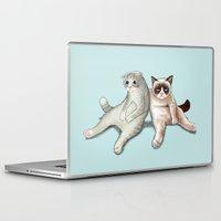 grumpy Laptop & iPad Skins featuring Grumpy Friend by Tummeow