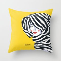 Lauren Bacall Throw Pillow