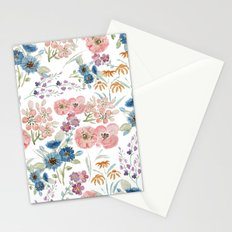 Watercolor field floral hand paint Stationery Cards