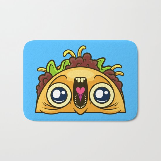 Excited Taco Bath Mat