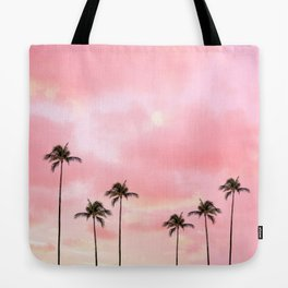Palm Trees Photography | Hot Pink Sunset Tote Bag