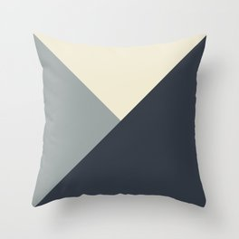 Origami Geo Tile // Gray monochrome Throw Pillow