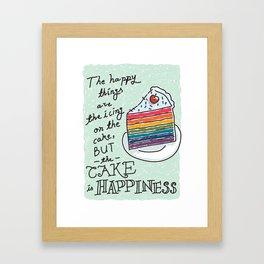 Happy Cake Framed Art Print