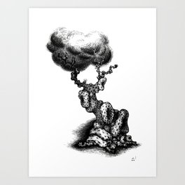 Flirty tree Art Print