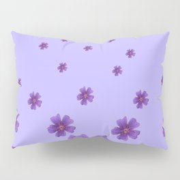 RAINING PURPLE FLOWERS LILAC COLLAGE ART Pillow Sham