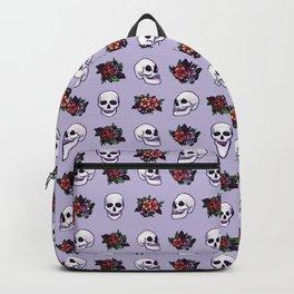FLORAL SKULL (LILAC) Backpack