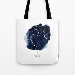 Zodiac Star Constellation - Sagittarius Tote Bag