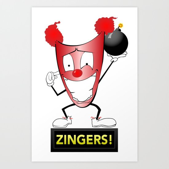 Zany Zinger T-Shirt Alternate Art Print