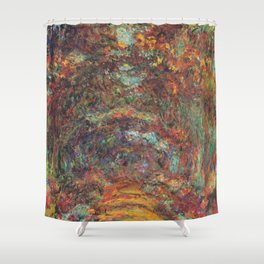 Claude Monet's The Rose Walk, Giverny Shower Curtain