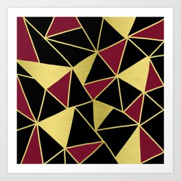 Golden Triangles Art Print