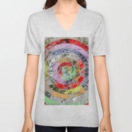 Textured Bullseye - Abstract, marble, pastel colours Unisex V-Neck