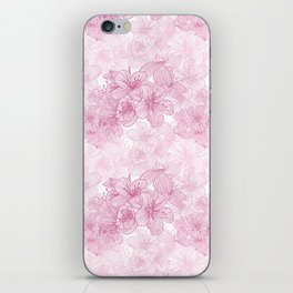 Pink Cherry Blossom iPhone Skin