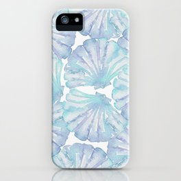 Shell Ya Later - Turquoise Seashell Pattern iPhone Case
