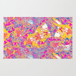 abstract flower print#1 Rug