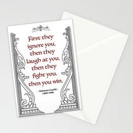 Mahatma Gandhi Aphorism, Words of Wisdom Stationery Cards
