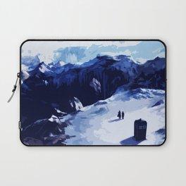 Tardis Art At The Snow Mountain Laptop Sleeve