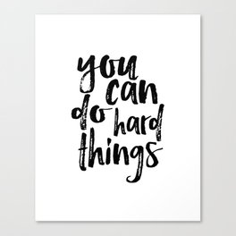 Printable Art you can do hard things gallery wall Inspirational Quote Wall Art Gift Idea Nursery Canvas Print