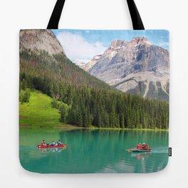 Boats on Emerald Lake Tote Bag